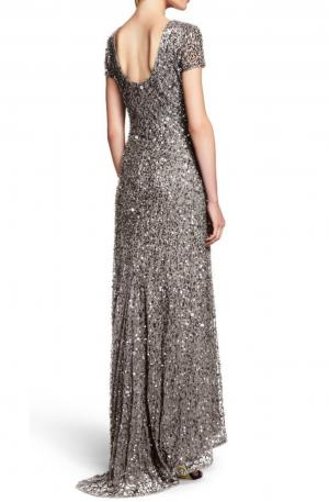 Vivianne Scoop Back Gown – Silver