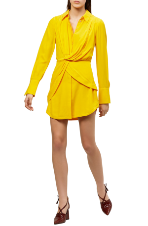 Alma Silk Shirt Dress
