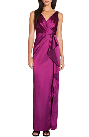Amethyst Draped Gown