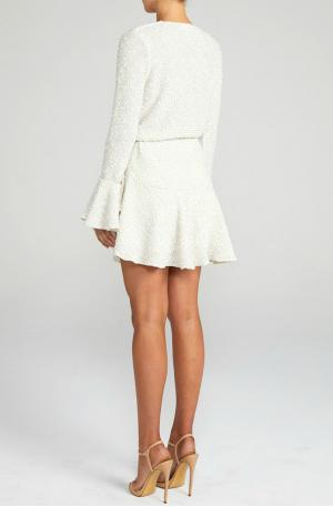 Aimee Frill Cuff Drawstring Mini Dress