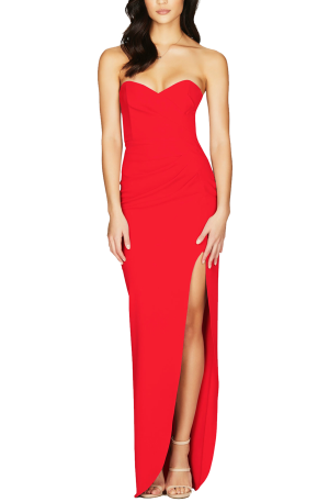 Bisous Gown – Red
