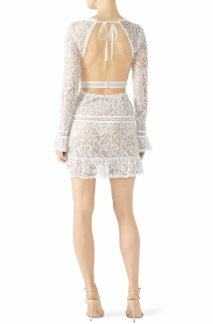 Emerie Cut Out Dress – White