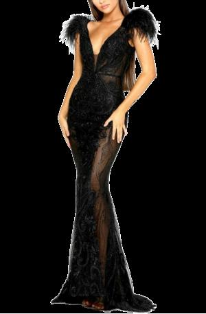 Fufu Gown – Black
