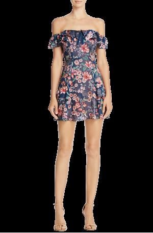 Flora Off Shoulder Mini Dress