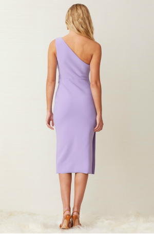 Gemma Asym Midi Dress – Violet