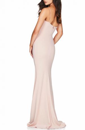 Jasmine One Shoulder Gown – Blush