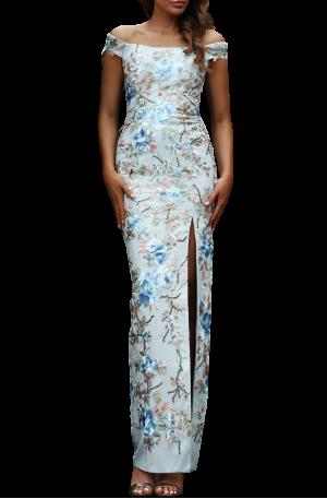 Lily Off Shoulder Gown – Sky Blue