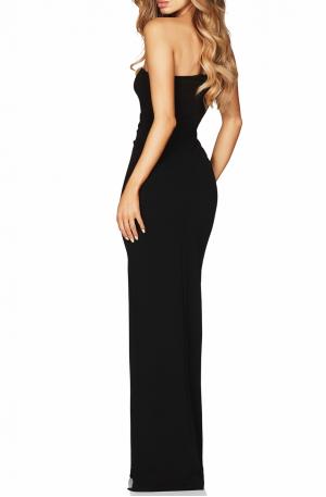 Lust One Shoulder Gown – Black