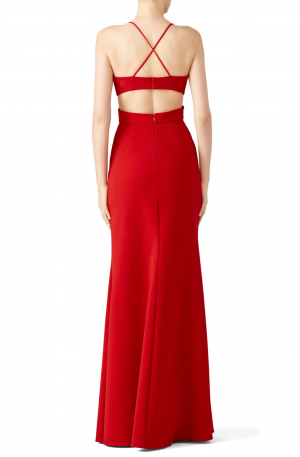 Cardinal Jersey Sleveless Gown