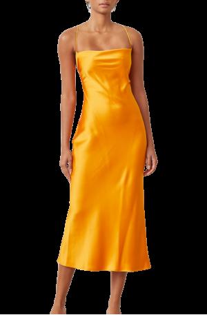 Seraphine Lace Up Midi Dress