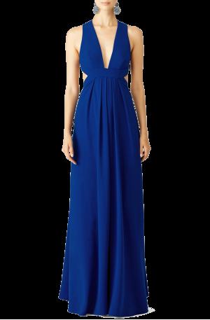 Cobalt Crossback Gown