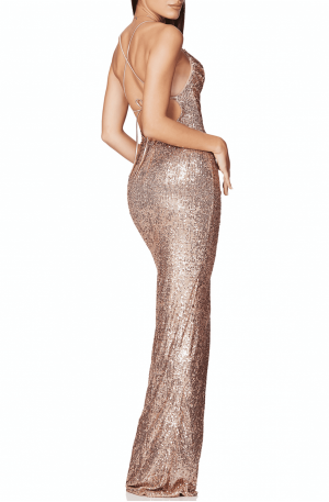 Cosmo Gown – Rose Gold