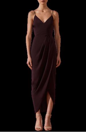 Core Cocktail Dress - Aubergine