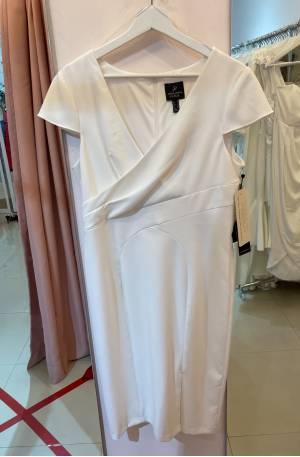 Jacq Mini Sleeve Dress - White